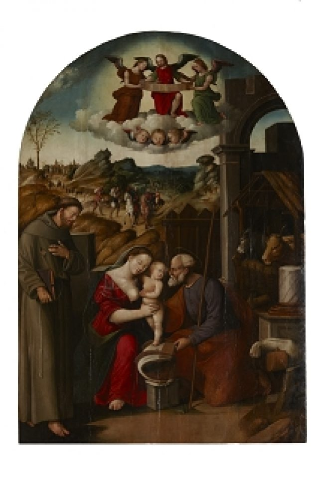 Natività di Gesù con San Francesco