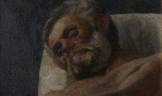 Testa di uomo sofferente