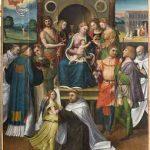 Madonna con bambino, santi e committente